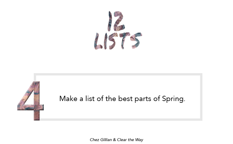 12 lists: The Best Parts of Spring