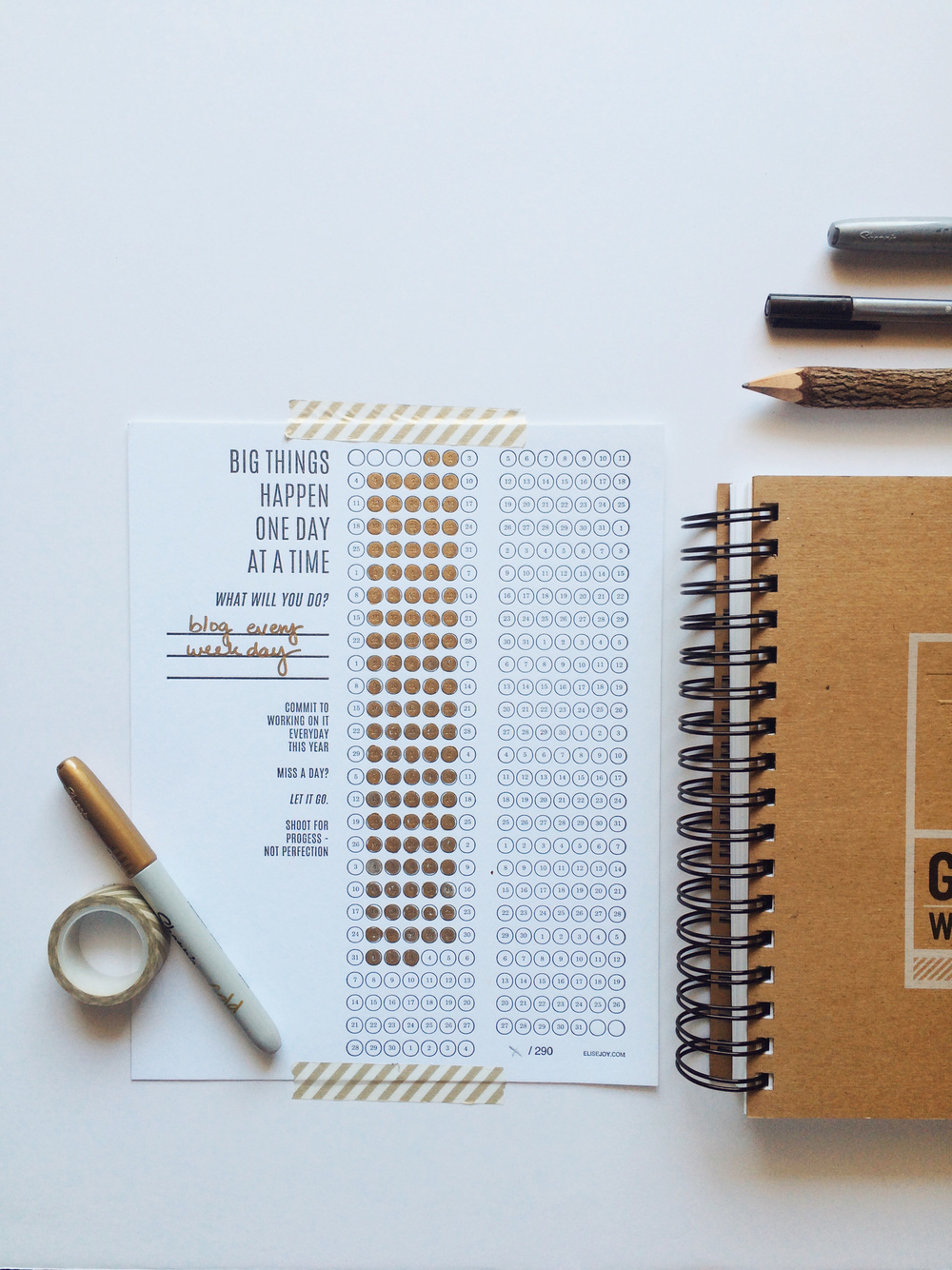 Get to Work Book and Goal Tracker from Elise Blaha Cripe