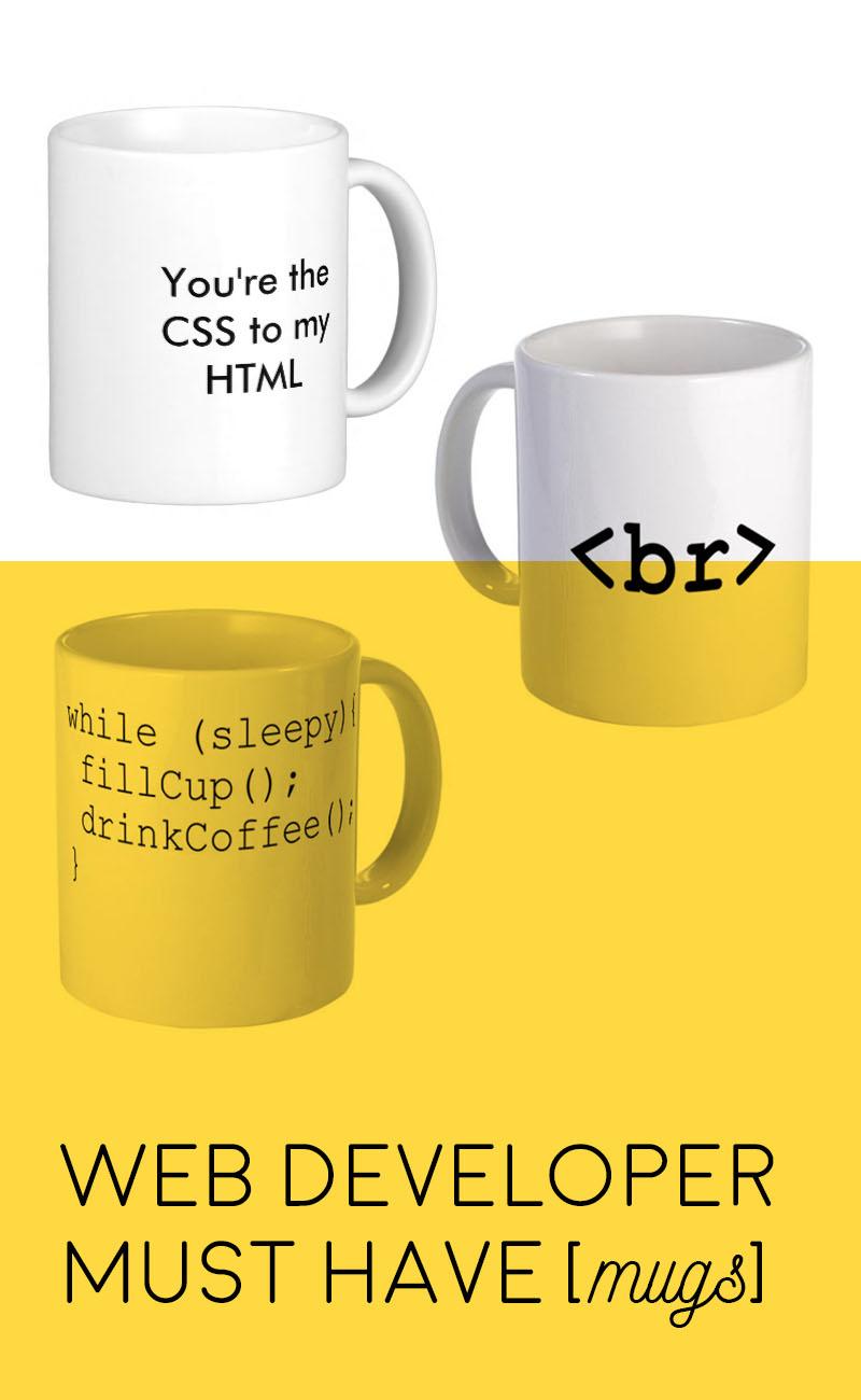 Web Developer Must Have Mugs | @ ashleyjoann.com