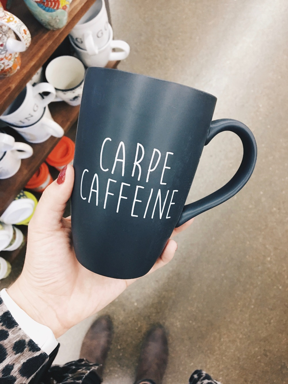 Carpe Caffeine Mug from World Market | #MugYOLO | ashleyjoanna.com