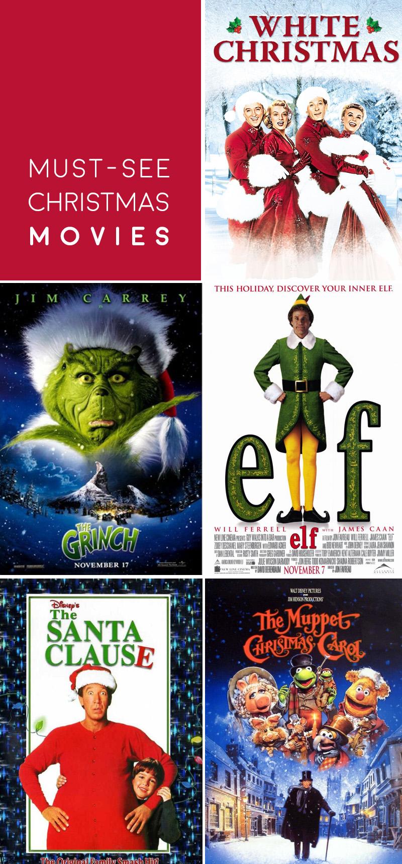 Top 5 Must-See Christmas Movies | ashleyjoanna.com