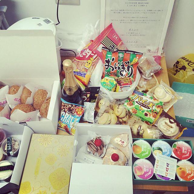 開店祝い#差し入れ#ありがとうございます#食べきれない#来週も楽しみ