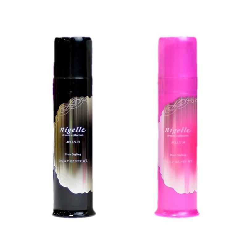 商品名:ニゼルジェリー  名称:スタイリング剤  香り:フルーティフローラル  効能:キラッと輝く濡れたような質感に。