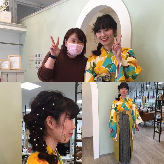 ご卒業の皆様、ご父兄様おめでとうございますm(_ _)m  今回のお客様は朝早くからわざわざ来てくださいました。  ヘアのバックショットを撮り忘れる…😩可愛くできたのに  着物もエリちゃんにすごく合っててすごく素敵でした。  #卒業式 #美容室#wasabi#calme#Garden #Ravi #bliss