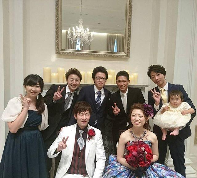 いい式だったよ! 相棒よほんとおめでとう(^^) #結婚式#岐阜#アーフェリーク迎賓館 #小学校からの同級生#相棒 #瀬戸西#結婚してないのオレだけ#笑