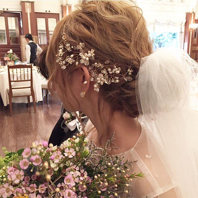 ゆさ結婚式💓②  #weddinghair #wedding#結婚式#花嫁#ブライダル#花嫁ヘア