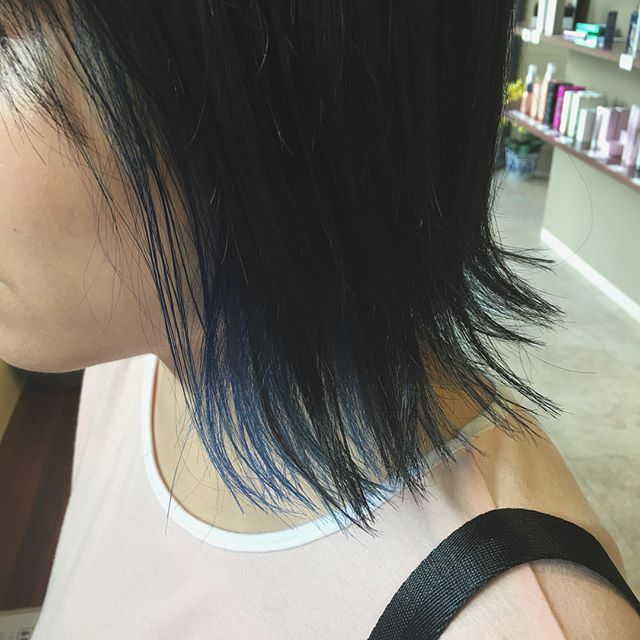 BlueBlack➕Blue♡ Ash➕Pink♡ #インナーカラー #blue #pink #美容師 #ワーキングマザー