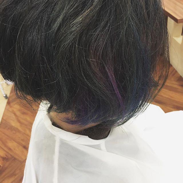 BLUEBLACK✖️BLUE  PURPLEのグラデーション♡#BLUE #PURPLE #グラデーション #個性派カラー #韓国 #KPOP #美容師