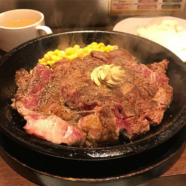 初いきなりステーキ! なかなか美味かった(^^) #いきなりステーキ#450g#肉 ! #ランチ#にしては#食いすぎた #久しぶりの投稿
