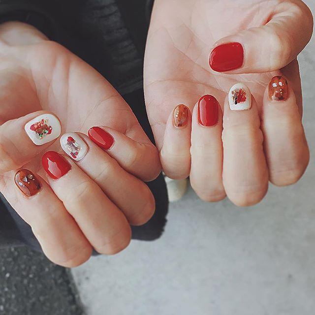 赤色たち🍂🍂🍂 #simple  #nails #nailsalon #ファーバック #赤  #color  #naildesing #シンプルネイル  #ネイルサロン #ネイルデザイン #instagood #べっ甲ネイル #べっ甲  #like4like #instnails #instnail #個性派 #秋カラー #冬ネイル  オシャレなお菓子ありがとうございました♡ @komaki0303 thankyou🌿✨