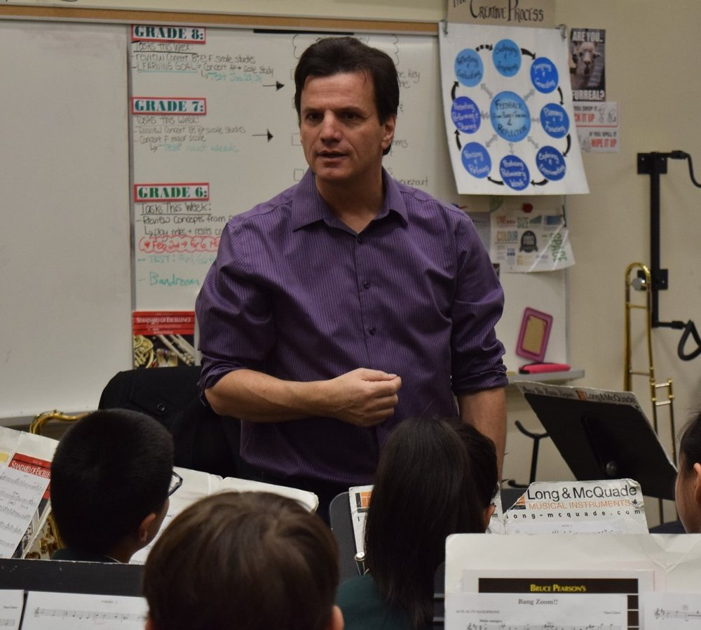 Concert Band workshop at Bayview Glen PS