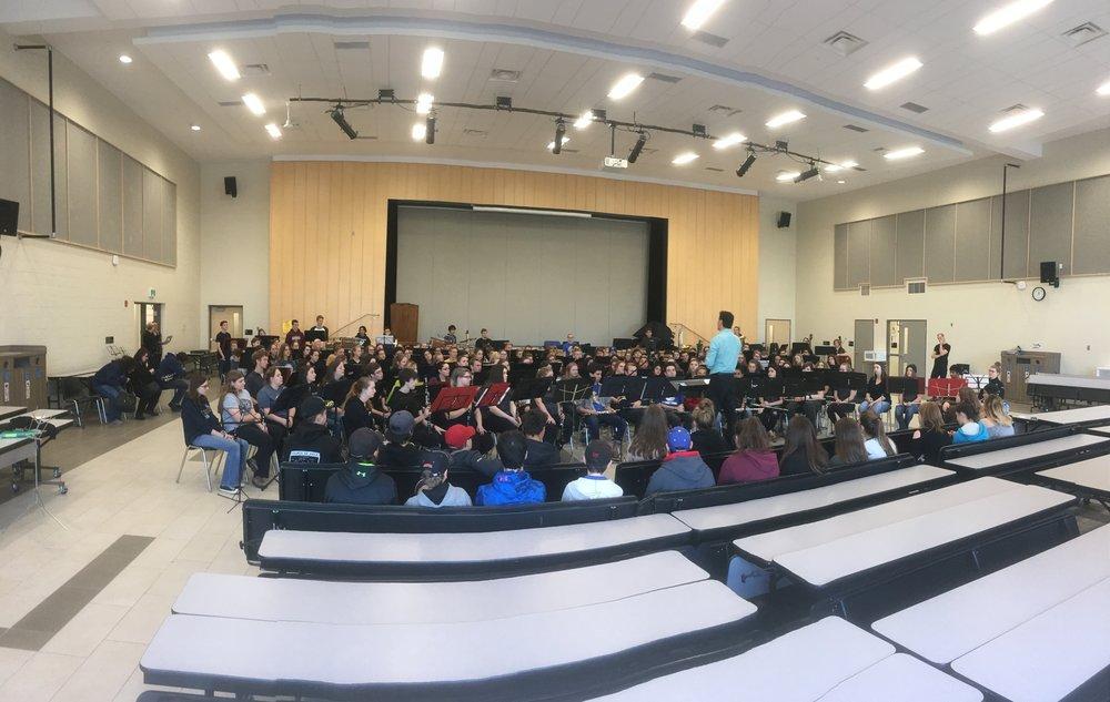 Four-school premier performance of  To Cross the Sleeping Green  (Orillia, Ontario 2018)