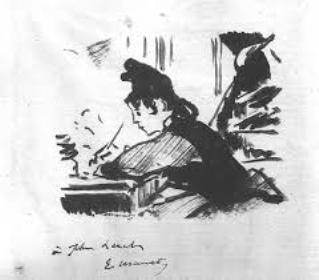 Manet painting woman writing