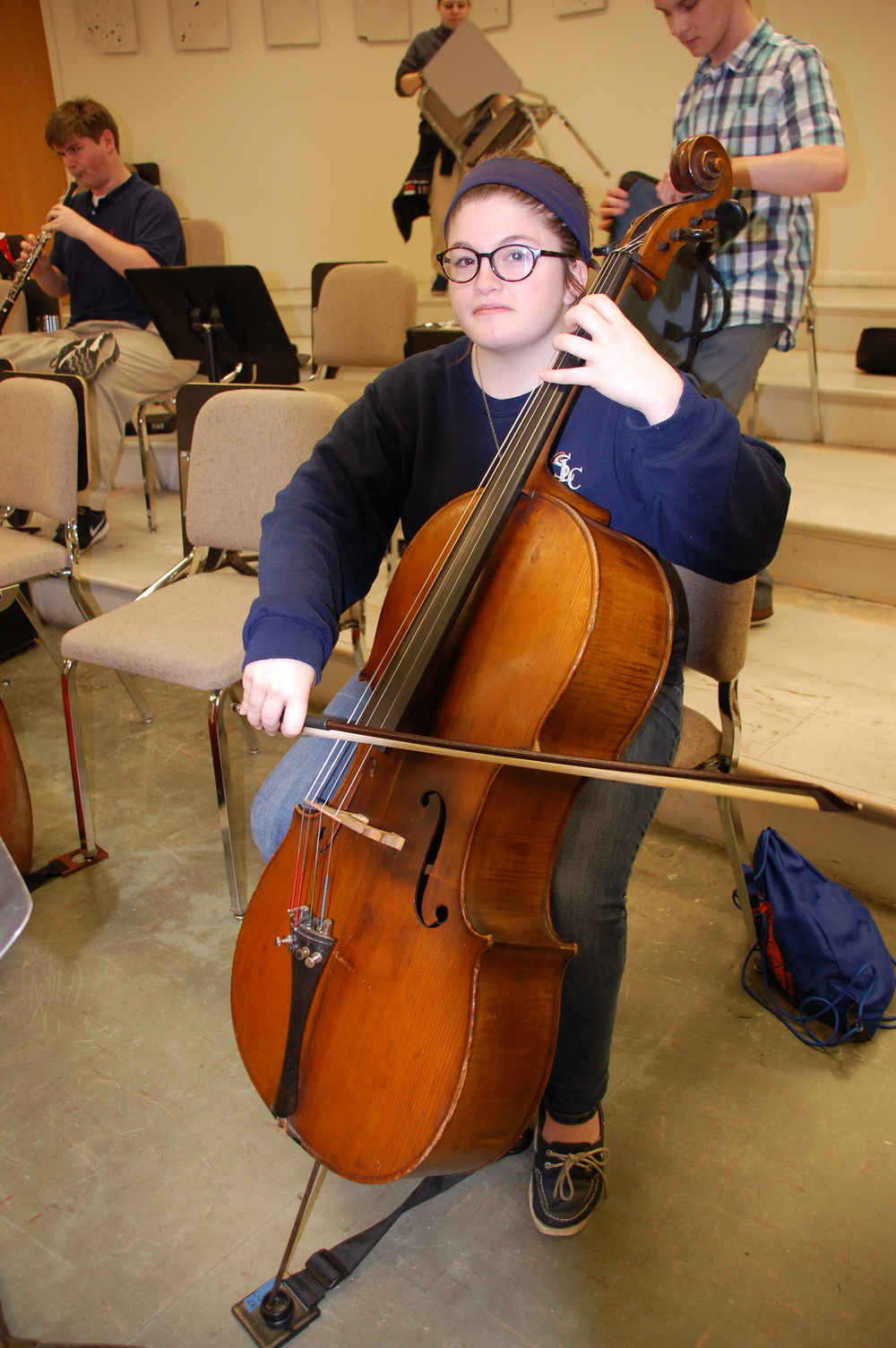 Hannah Guillory, Cellist for the Symphonic Youth Orchestra