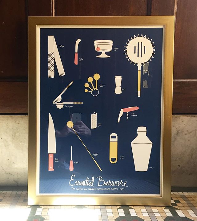 We love getting feedback from you! Including how you display our prints. This one is from @pamela9575 Nice frame choice! . . . #sorry #graphicdesign #illustration #screenprinting #screenprint #screenprinter #barware #homebar #cocktails #booze #mixology #handmade