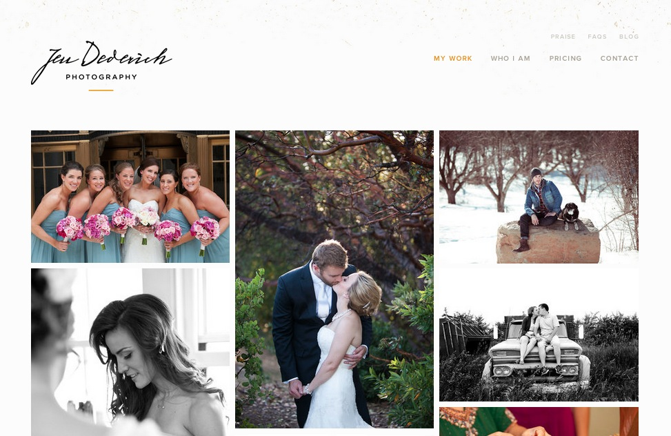 Jen Dederich Photography Website