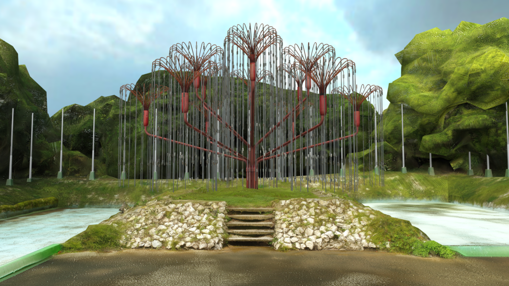 Arbol Rojo, to be viewed on the HMD Odyssey Mixed Reality Headset