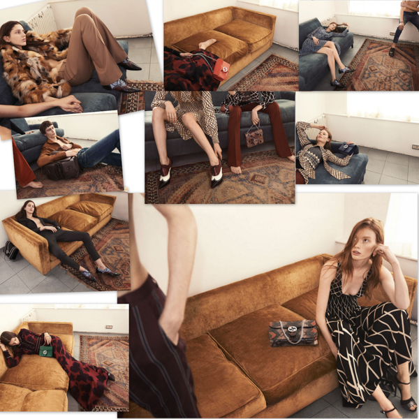 Alessandro Michele's first campaign as creative director for Gucci.