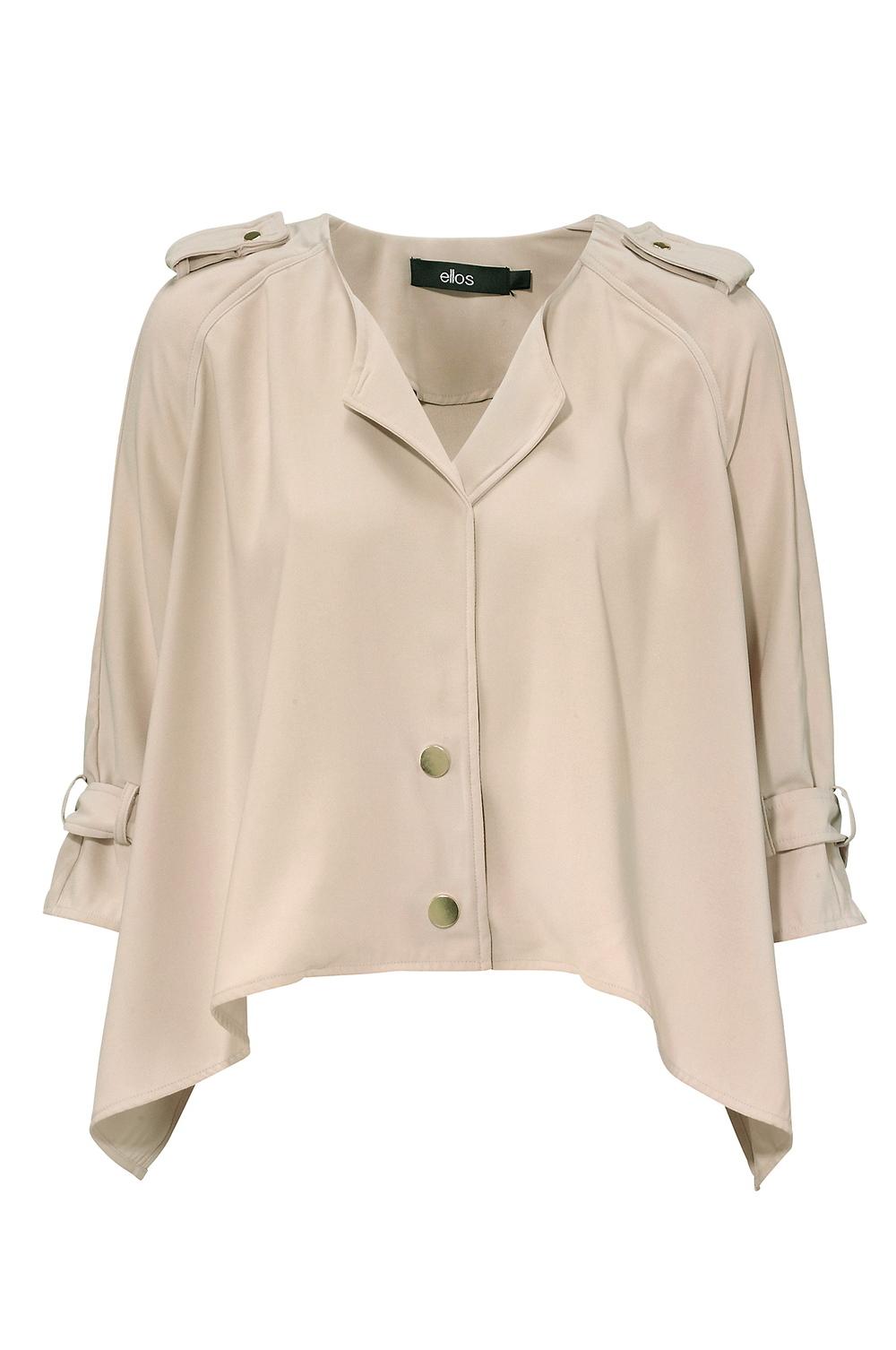 beige cropped blazer