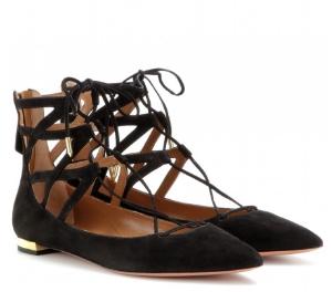 Belgravia Flat suede sandals aquazzura