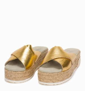 slippers gold