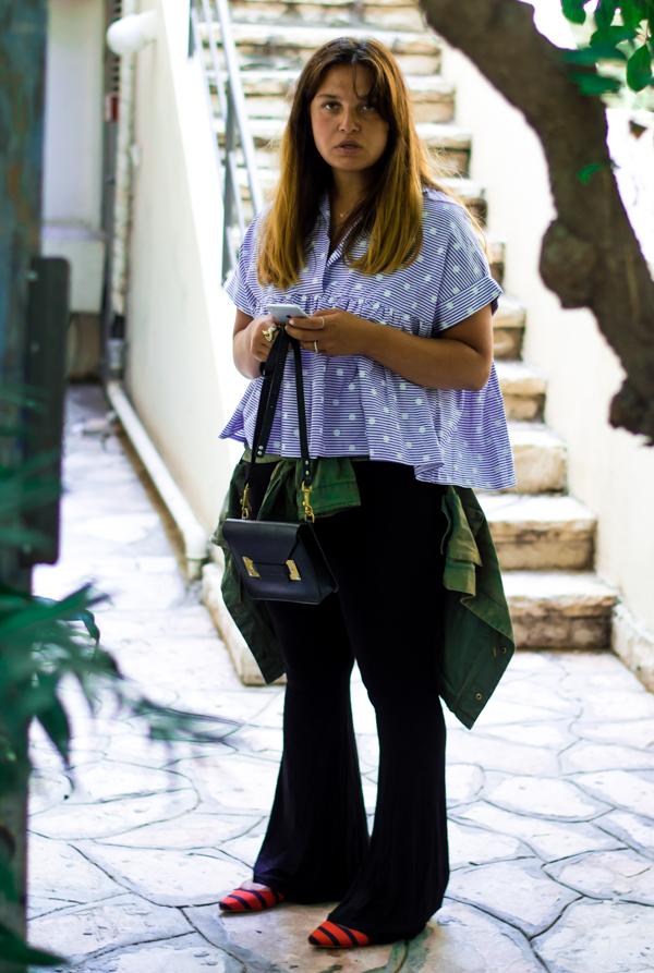 Wearing Dana Sidi Cohen. Shot by Tomas Erdis.