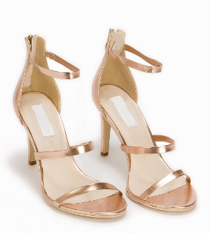 metallic stiletto heels