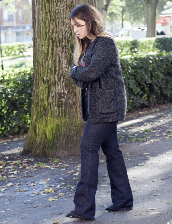 Wearing Filippa K jeans for Anna Mårtensson.