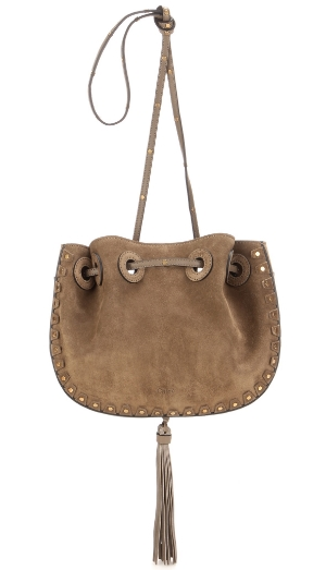 chloe suede bucket bag