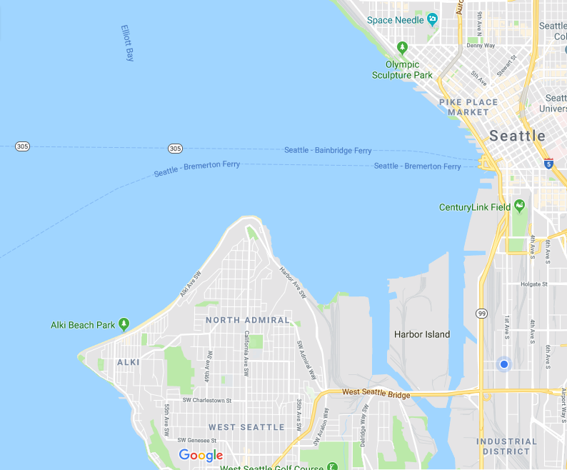 Need a pick up? - We can pick you up from downtown Seattle, Pioneer Square, International District, Industrial District, West Seattle, Admiral, Alki, and Delridge.