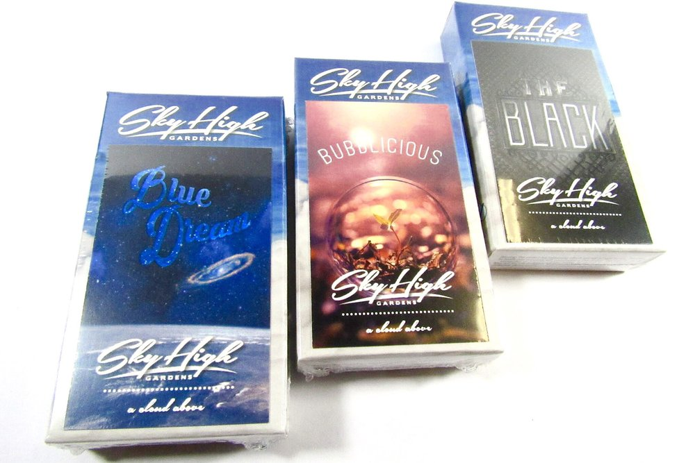 Sky High uses pure flower to pack their pre rolls and each one is hand done to ensure quality.