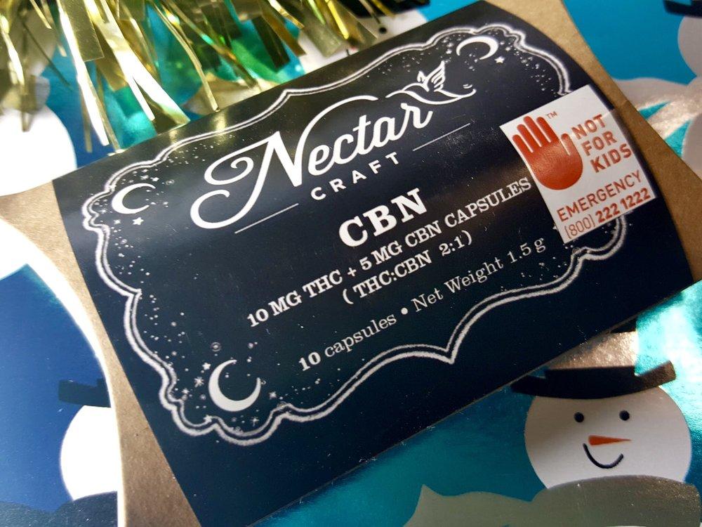 Nectar Craft CBN Capsules Ganja Goddess Seattle