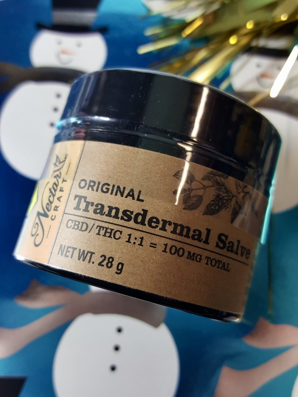 Nectar Craft Transdermal Salve 1:1 CBD:THC Ganja Goddess