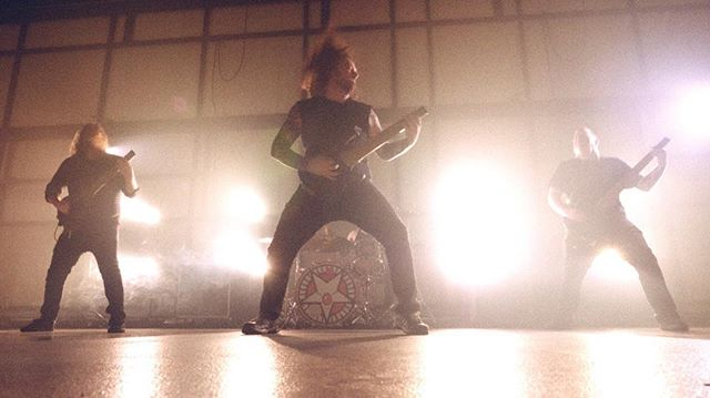 Working on color grading footage of @kotr_metal music video shot today. Just getting started by you can see the graded and ungraded sample here for starters.  #wylerstudios #musicvideo #videographer #cinematographer