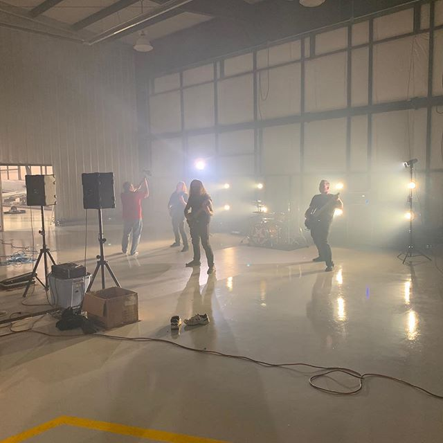 What an amazing fun day! Shot a music video with @heyadampayne and his band Knights of the Round. Shooting a music video for one of their singles on their new album!  #wylerstudios #videographer #musicvideo