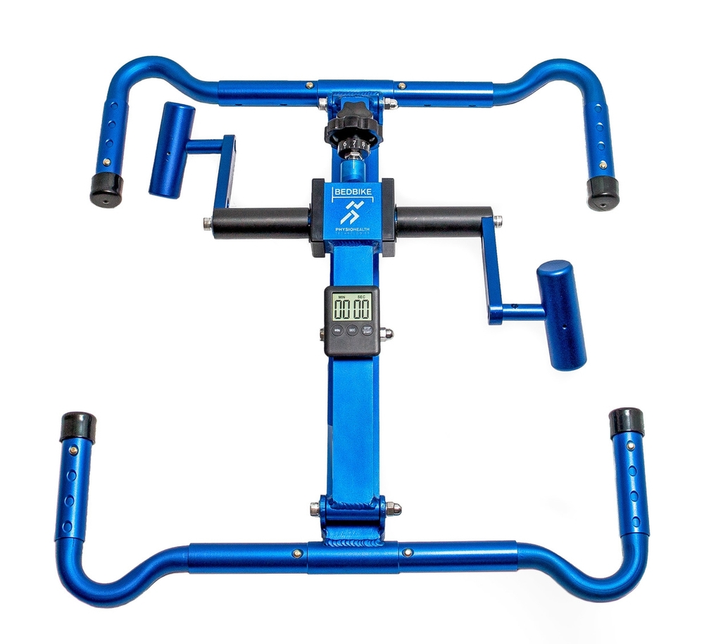 BedBike: portable arm ergometer in storage position