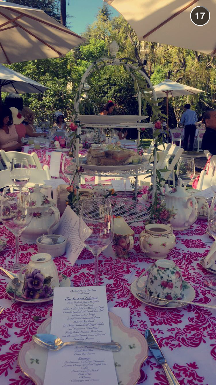 Tea party table settings (taken by Carina Oriel, F2S Archer founder)
