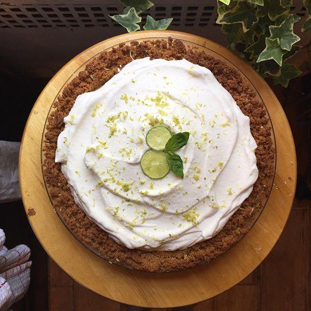 Key lime pie for a very special half birthday.