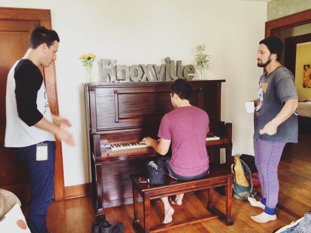 Songwriting at our Air BnB in Knoxville, TN