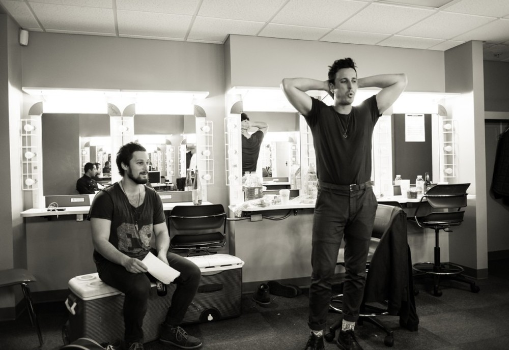 the Bros. Levine backstage at Tennesee Theatre in Knoxville, TN