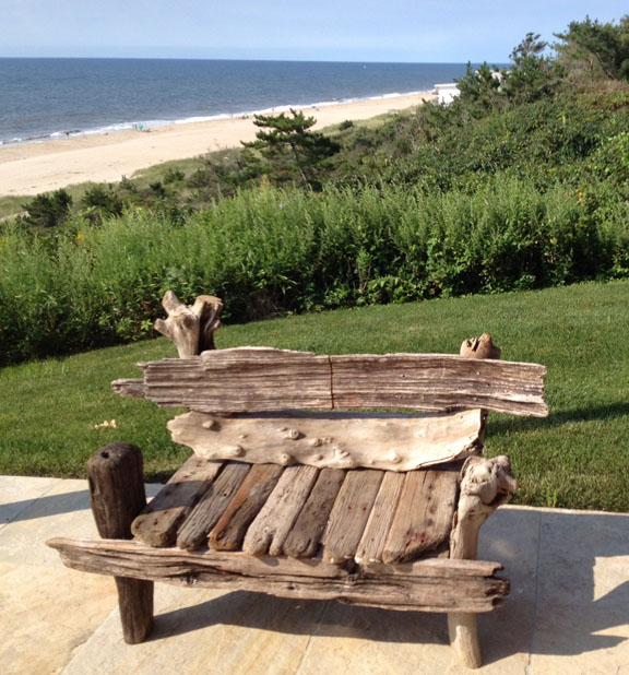 "Bonfire Chair    driftwood  35"" x 44"" x 32""  2012  (sold)"