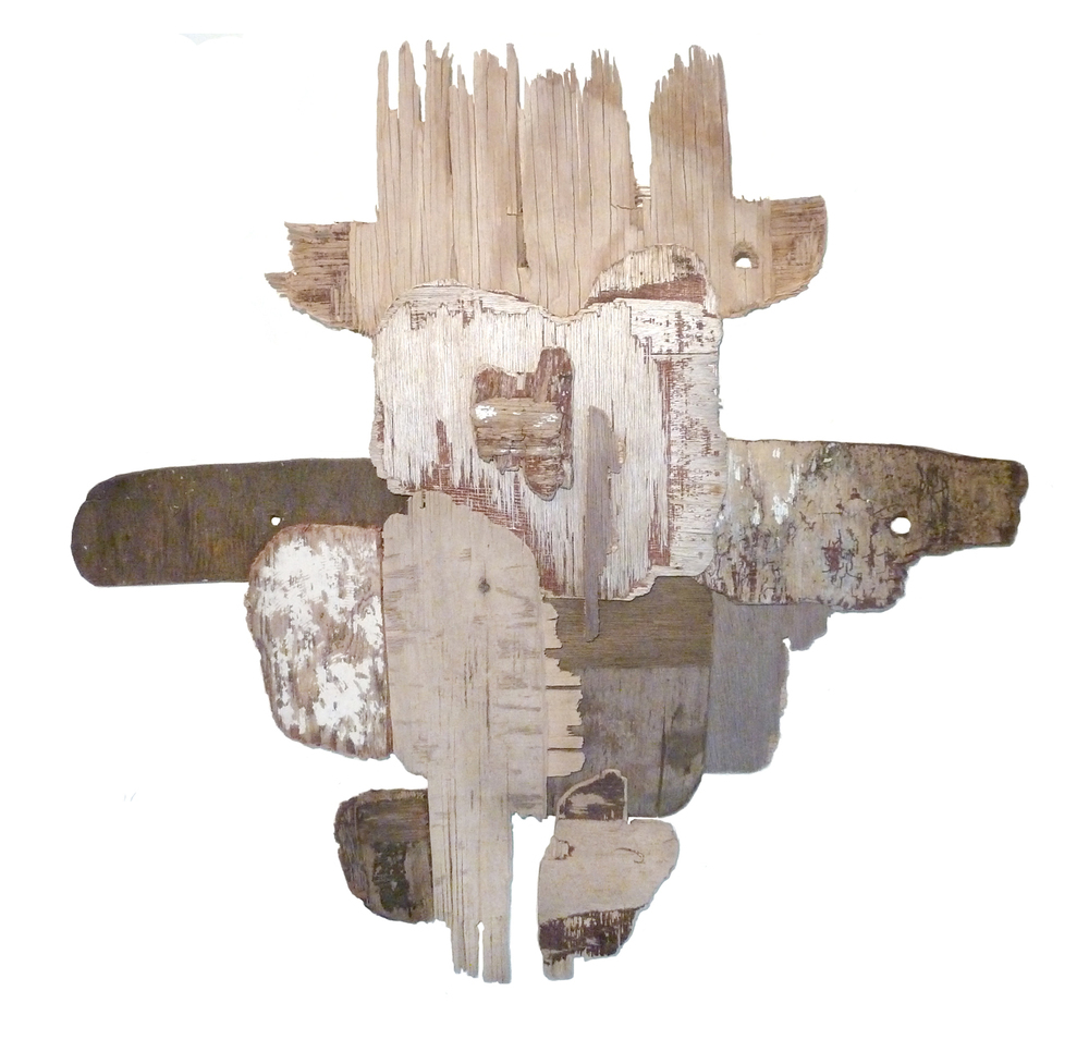 "Conundra    found wood assemblage  31"" x 27""  2012  (Available)"