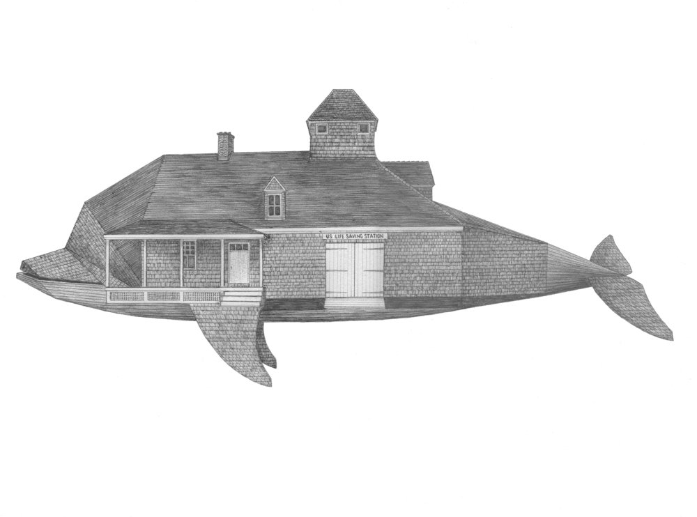 "Dolphin Station    ballpoint pen on paper  12.25"" x 17""  2018  (sold)"