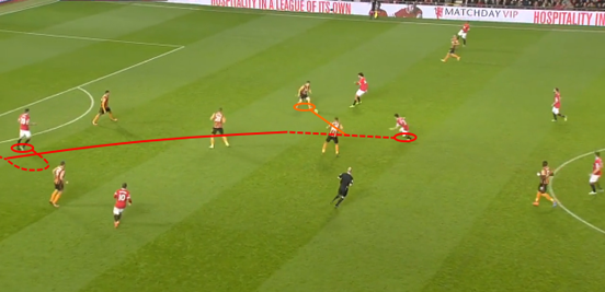 Herrera manages to intercept a pass deep in the Hull half, before playing an incisive pass to Robin van Persie who scores from just outside the box.