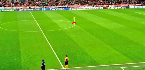 Manuel Neuer has adapted the 'sweeper keeper' role to a new extreme, with him pictured near the half-way line here.