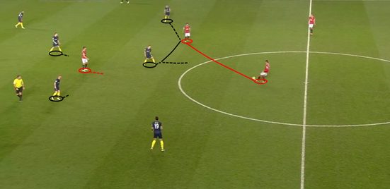 With a lack of options present, limited space behind the midfield and little space between them and Man Utd's players, Southampton can feel confident in pressing the opposition before they can turn in possession – and in this instance the ball is won off Mata by Tadić before a counter-attack is instigated.