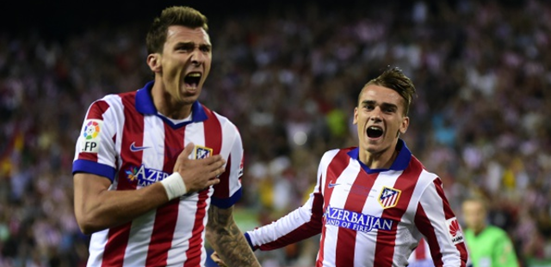 Mandžukić and Griezmann celebrating goals has been a very common sight this season, and they've formed a formidable partnership at the top of Atleti's 4-4-2.