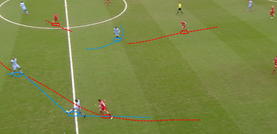 Coutinho's pressing of the ball forces Fernandinho to play it back to Kompany and then he's able to win possession off the centre-back and carry the ball forward, eventually resulting in the opening goal.