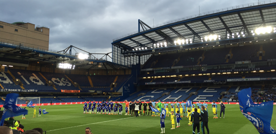 The Chelsea and Man City teams, pictured here before the game at Stamford Bridge, featured some exciting young talent.