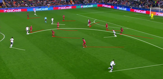 Cancelo constantly offered width on the right for Valencia, with Parejo in particular often using his good positioning as an outlet and potential attacking route. Gayà also made similar contributions on the left, although his performance wasn't as impressive.